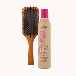 Aveda Cherry Almond Leave-In Conditioner with Mini Paddle Brush Set