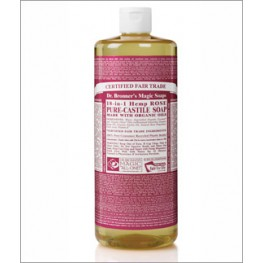 Dr Bronner's Org Rose Cast Liquid Soap 946ml