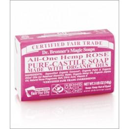 Dr Bronner's  Rose Soap Bar 140g