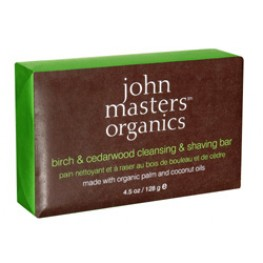 John Masters Organics Birch and Cedarwood Cleansing & Shaving Bar