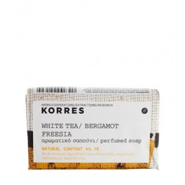 Korres White Tea, Bergamot and Freesia 125g Soap