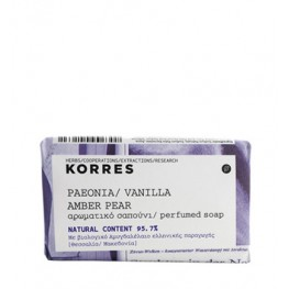 Korres Peonia, Vanilla, Amber and Pear 125g Soap
