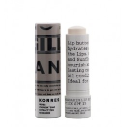 Korres Mandarin Lip Butter Stick Colourless without SPF
