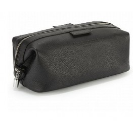 Penhaligon's Leather Gladstone Wash Bag In Nero