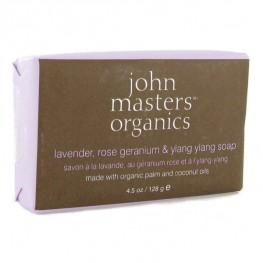 John Masters Organics Lavender Rose Geranium & Ylang Ylang Soap