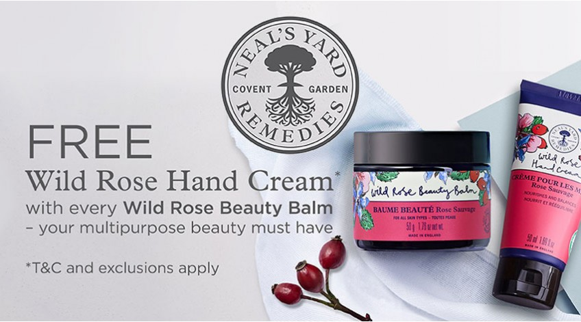 Free Neals Yard Remedies Wild Rose Hand Cream