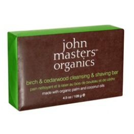 John Masters Organics Birch and Cedarwood Cleansing & Shaving Bar
