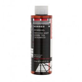 Korres Vetiver Root, Green Tea and Cedarwood Shower Gel 250ml