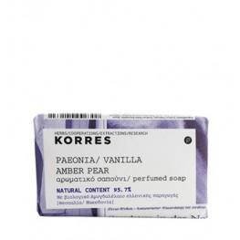 Korres Peonia, Vanilla, Amber and Pear 125g Soap